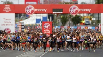 La maratona di Londra 2017