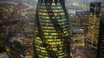 The Gherkin, uno dei grattacieli della City di Londra