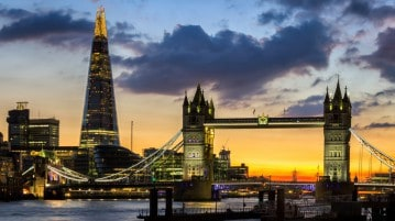Lo Shard a Londra. gratis con il London Pass